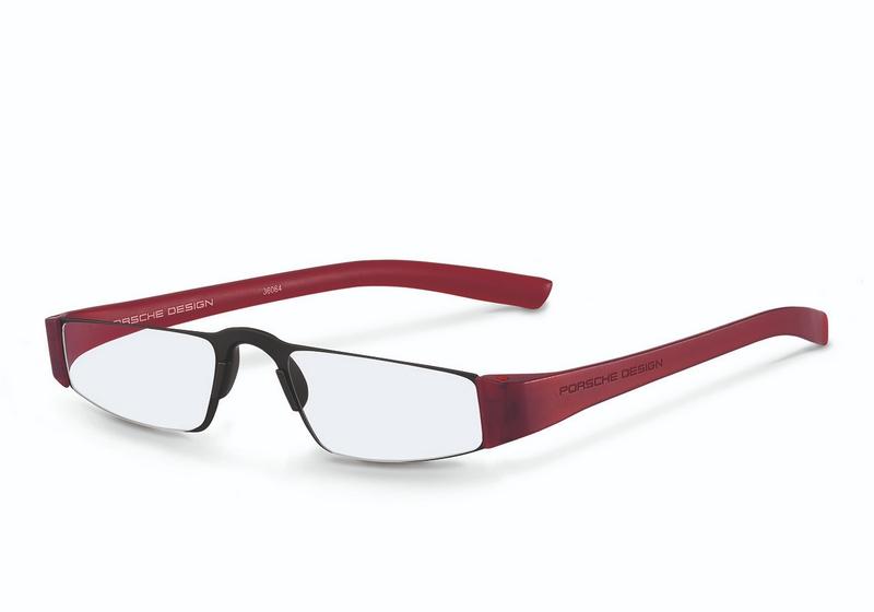Leesbril Porsche design B - Black/red